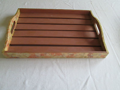 Wooden tray - great as is or for the craft lovers - you can re-do it!!!