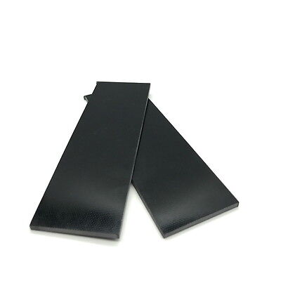 "G10 Slabs- Knife Handle Scales or Liners 1/8"" x 1.5"" x 4.7"" BLACK"