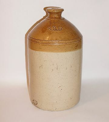 Vintage SRD British Military Rum Stoneware Jug Crock F. Brayne & Co. London