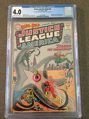 Brave and the Bold 28 CGC 4.0 VG DC 1st Appearance Of Justice League!!