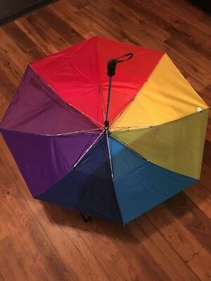 TOTES HUGE AUTO UMBRELLA Rainbow 8 Different Colors, Style #762, 100% Polyester