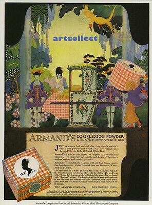 Image: Vintage Armand's Complexion Powder Ad by E A Wilson1918. NOT ORIGINAL AD.