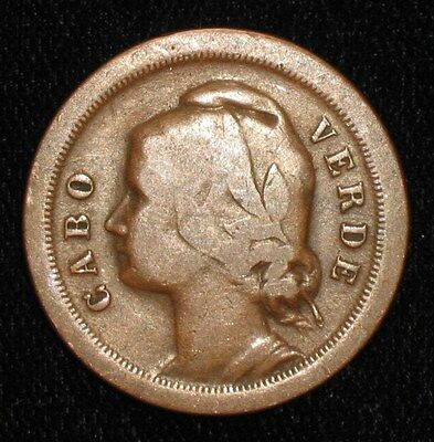 1930, 20 Centavos from Cabo Verde.  No Reserve!