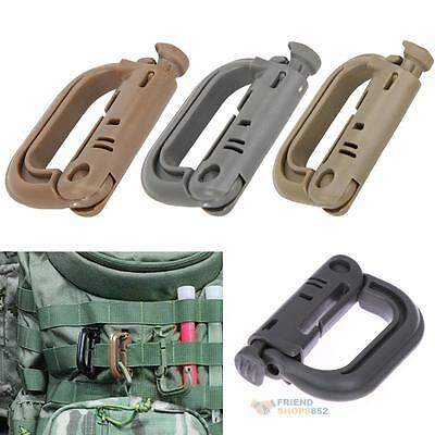 5pcs Grimloc Molle Carabiner Locking Ring Mount D-Ring Clip Snap Hook Buckle
