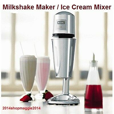 Milkshake Maker Ice Cream Whipper Frother Machine Cool Smoothie Drinks Mixer NEW