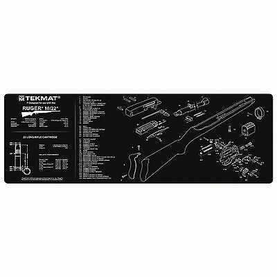 Tekmat Gun Cleaning Mat 12x36 With Parts Diagram Schematic M1