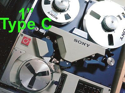 "1"" One Inch Type C to ProRes422HQ Video Tape Reel Digitizing Transfer Sony Ampex"