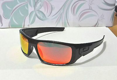 433a209065 New Oakley Crankshaft Sunglasses Pol Black   Custom Polarized Ruby Irid (No