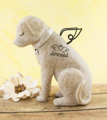 """""""Devoted"""" Angel Dog Memorial Figurine With Wings"""