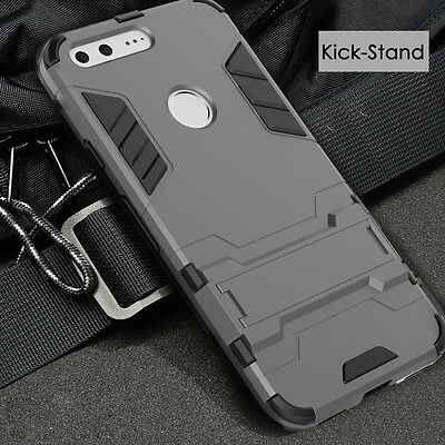 Google Pixel Case, Rugged Armor Ultra Slim Hybrid Soft Cover Stand for Google CA
