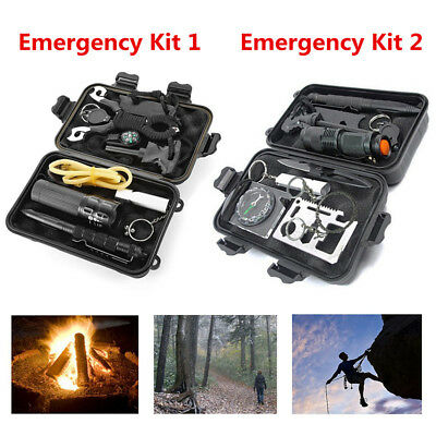 Outdoor Professional Emergency Survival Kits Travel Hiking Camping SOS Gear