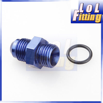 -10 AN 10AN AN10 Male Flare To -10AN AN10 Straight Cut O-Ring Fittings Blue