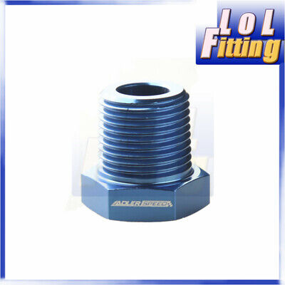 3/8'' NPT Male to 1/8'' NPT Female Adapter Adaptor Fitting Aluminum Alloy Blue