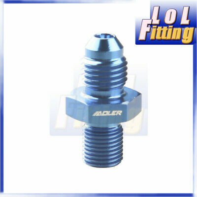 4AN AN4 AN-4 Flare To M10 x 1.0 ( mm ) Metric Straight Fittings Aluminum Blue