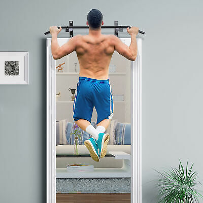 Soozier Wall Mount Pull Up Bar Upper Body Training Workout Home Gym Fitness