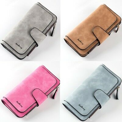 Women Lady Soft Leather Wallet Long Handbag Clutch Phone Bag Card Holder Purse