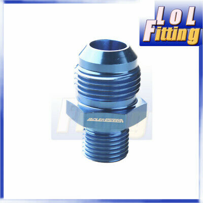 Male -10 AN 10AN AN10 10 AN Flare To M16x1.5 Metric Straight Fitting Blue