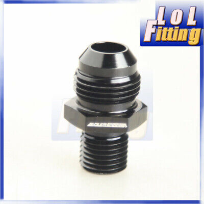 -8 AN -8AN AN8 Flare To M14x1.5 Metric Straight Fittings black
