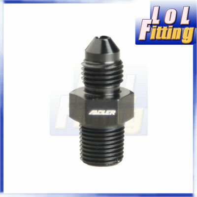 AN3 -3AN to 1/8'' NPT Straight Adapter Pipe Fuel Oil Air Fitting Black Color