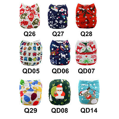 U Pick Alva Baby Cloth Diapers Lot One Size Reusable Pocket Nappies With Inserts