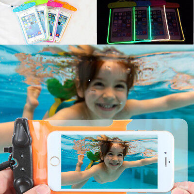 20m Underwater Waterproof Case Fluorescent Cover Bag Dry Pouch For Cell Phones