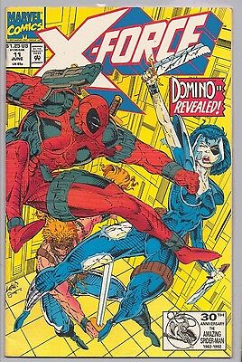 MARVEL X-FORCE 11 3rd APPEARANCE DEADPOOL, DOMINO REVEALED June 1992 1st SERIES