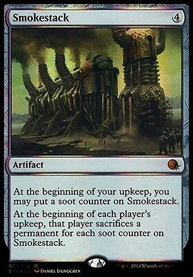MTG FOIL Smokestack [English, From the Vault: Annihilation, Free P&P]
