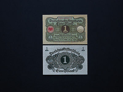 GERMANY 1 MARK  p58  GREAT EARLY (1920)  LITTLE NOTE   * MINT UNC *