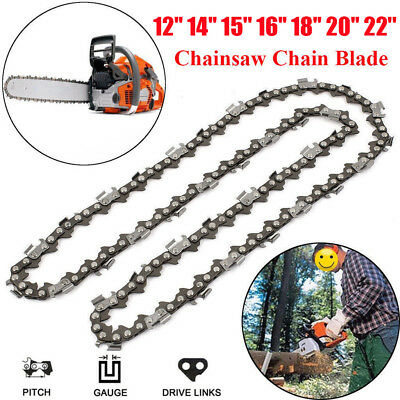 12''/14''/15''/16''/18''/20''/22'' Chainsaw Chain Blade Replacement Saw Part New
