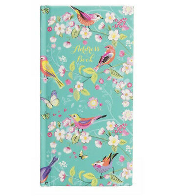 WHSmith Melodie Turquoise Slim Address Book With A-Z Tabbed Index & Line Space