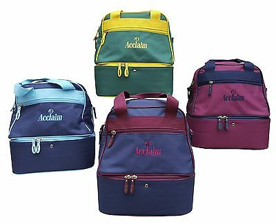 ACCLAIM Staple Mini Double Decker Two Tier Flat Lawn Green Bowling Bowls Bag