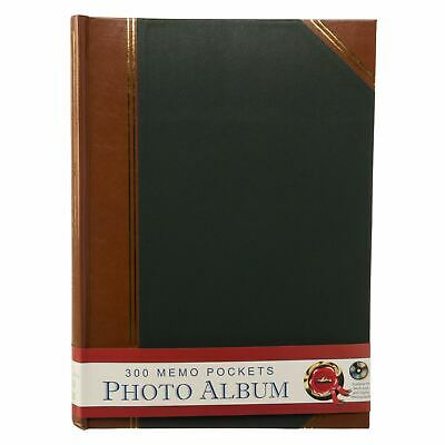 Large Green Duo Leatherette Memo Photo Album 50 Leaves Case Bound General Use