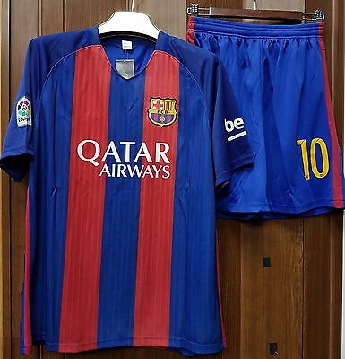 Barcelona FC - Lionel Messi - Adults/Kids - Home Jersey + shorts