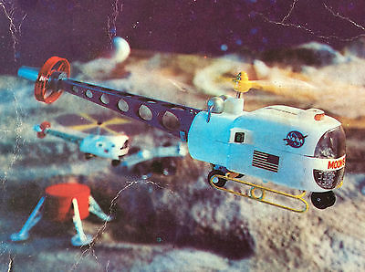 Moon Scout Helicopter 1968 Japan Marx Toy SPACE VERY RARE OVP with BOX