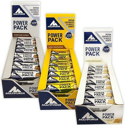 24x35g Multipower Power Pack Sport-Riegel Protein Eiweißriegel Powerbar Energy
