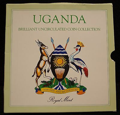 1987 Africa's Uganda Brilliant Uncirculated Coin Collection By The Royal Mint