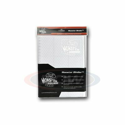 Monster Gaming Card Binder 9 Pocket Holofoil White with White Pages