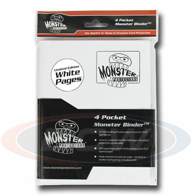 Monster Gaming Card Binder 9 Pocket White with White Pages