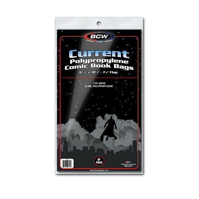 BCW Current / Modern Age Comic Book Bags Pack of 100