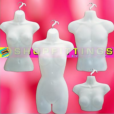 Semi-Clear  High Quality Half Hanging Mannequin Torso Body Form Display Bust