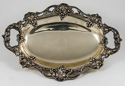 Aesthetic Gorham  Figural Grapes Sterling Silver Tray