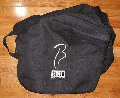New Bloch for Dancers Oversized Canvas Dance Bag Black Zipper Closure  Pockets
