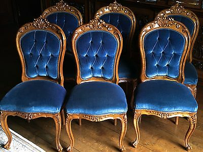 Set of 6 reproduction dining chairs