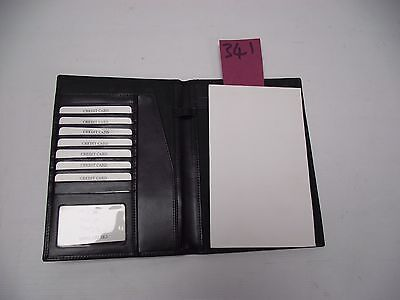 Black Leather notepad  folder  (style 341)