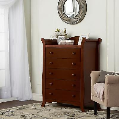 Dream On Me Alissa Wood 5-drawer Sleigh Chest