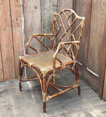 Bamboo Bergere Chair