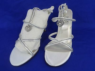 NEW Special Occasions by Saugus Shoe JULIET 5230 White Satin Size: 8.5 W