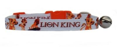 "WHITE  EXCLUSIVE TO US    ""THE LION KING""  safety kitten cat collar  3 sizes"