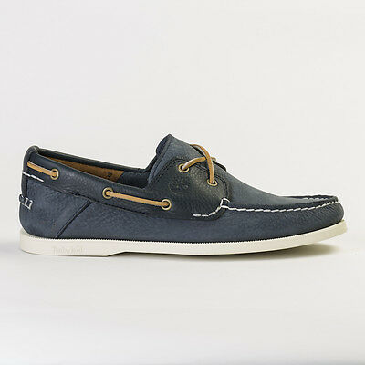 Timberland 6367A Men's Earthkeeper Heritage 2-Eye Navy Boat Shoes All Sizes