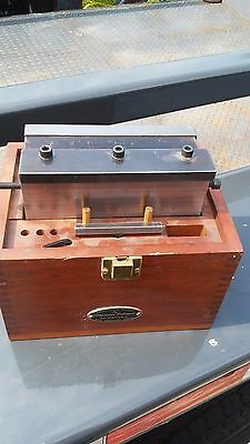 "Hermann Schmidt 6"" x 6"" magnetic chuck with Original Wood Box Missing lid"
